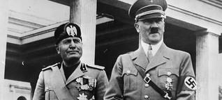 Hitler und Mussolini: Mussolini und Hitler, die Faschisten-Freunde