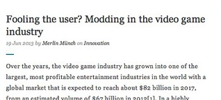 Fooling the user? Modding in the video game industry