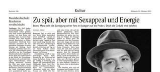 Kultur – Konzertbericht Bruno Mars