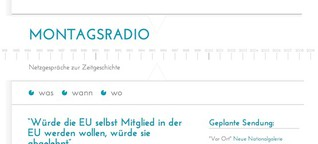 Montagsradio - Netzgespräche zur Zeitgeschichte