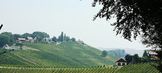 Unterwegs an der Südsteirischen Weinstraße in Österreich