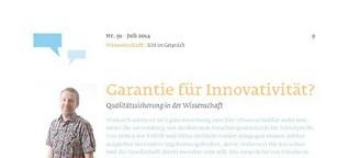 Garantie für Innovativität? Qualitätssicherung in der Wissenschaft