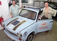 Elektromobilität: Solartrabi rollt lautlos durch Dresden