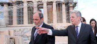 Gauck in Athen. Griechenlands Schulden, Deutschlands Schuld