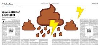 Der Freitag: Heute starker Shitstorm