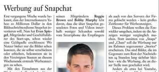 Werbung auf Snapchat