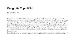 """Filmkritik: """"Der große Trip - Wild"""""""