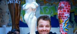 Prothesendesigner: Buntes Bein nach Maß