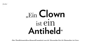 """""""Ein Clown ist ein Antiheld"""""""