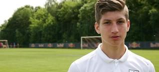 Vitaly Janelt mit U17 von RB Leipzig im Bundesliga-Halbfinale