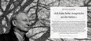 """Klaus Staeck: """"Ich habe hohe Ansprüche an die Satire."""""""