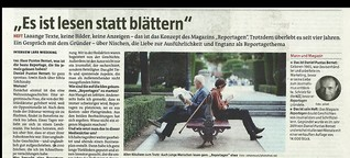 "Magazin ""Reportagen"" : ""Lesen statt blättern"""