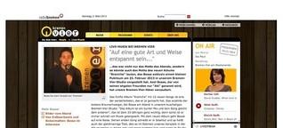 Bremen Vier: Live-Musik, Interview mit Bosse