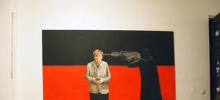 Merkel-Bild eines Leipziger Studenten: Ist das Kunst, oder muss das weg? - SPIEGEL ONLINE