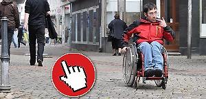 Audiosildeshow - Im Rollstuhl durch die Innenstadt