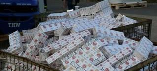 Rund 860.000 Schmuggel-Zigaretten sichergestellt - 37 Personen vorläufig festgenommen