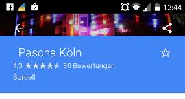 """Neues Google-Feature zeigt: Wann ist im Kölner """"Pascha"""" am meisten los?"""
