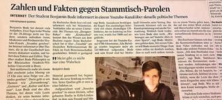 Kölner Student liefert Zahlen und Fakten gegen Stammtisch-Parolen