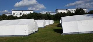 Flüchtlinge: Erst die Zelte, dann die Anwohner