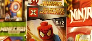 LEGO-Spielzeuge aus China - Spider-Man kommt unter die Walze