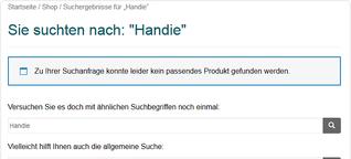 """Usability: Die Suchergebnisseite """"no products found"""" von WooCommerce optimieren - lautzeichen.de"""