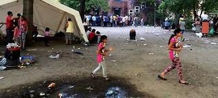 Schalte: Schockierende Zustände für Flüchtlinge vor dem Berliner LaGeSo