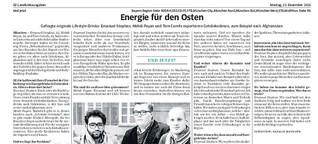 Energie für den Osten