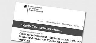 Regierungsentwurf zu Urheber-Verträgen: Reaktionen und Streitpunkte im Überblick
