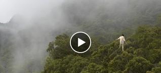 Als erster Mensch der Welt über Baumkronen laufen