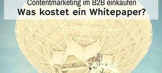 Content-Marketing im B2B einkaufen: was kostet ein Whitepaper?