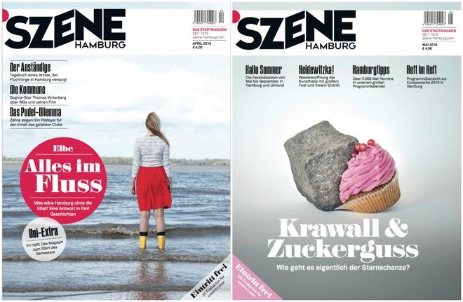 Redaktionsleitung SZENE HAMBURG – Ausgaben Mai und Juni 2016