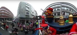 Rosenmontagszug Köln im 360-Grad-Video