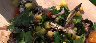 Grillen für Profis: Sardinen mit Tomatensalsa
