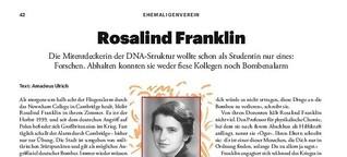 Ehemaligenverein. Rosalind Franklin