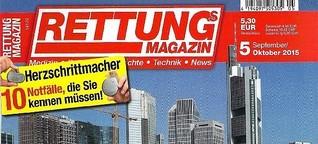 Rettungs-Magazin: Angebot und Nachfrage - Notarztmangel