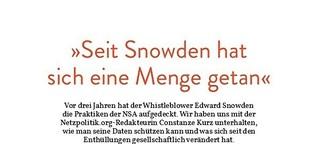"""""""Seit Snowden hat sich eine Menge getan"""""""