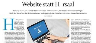 Website statt Hörsaal