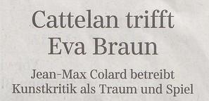 Cattelan trifft Eva Braun
