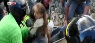Horror-Beben in Italien ++ Mindestens 247 Tote | Mädchen nach 17 Stunden aus Trümmern gerettet! - Staatsbegräbnis für Erdbebenopfer in Italien