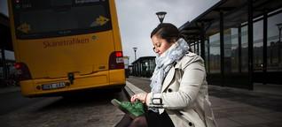 Hon skor sig på säten från Skånes bussar