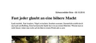Zur letzten Ruhe in die Natur - Der Friedwald