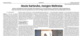 Heute Karlsruhe, morgen Weltreise