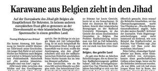 Karawane aus Belgien zieht in den Jihad