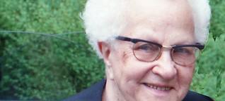 Minna  Ehrngruber erinnert sich an zwei Weltkriege