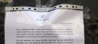 Defäkationen in der Wiener Schottenkirche