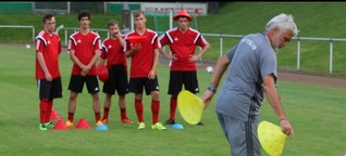 Printreportage über die Fußballnationalmannschaft ID für die Nürnberger Nachrichten