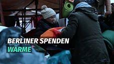 Berliner spenden Wärme für Obdachlose