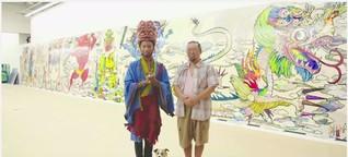 Pharrell besucht Murakami | Takashi Murakami zeigt Pharrell Arbeiten seiner kommenden Ausstellung