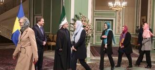 Nach Kopftuch-Auftritt bei den Mullahs - Schwedinnen haben zu Hause Ärger