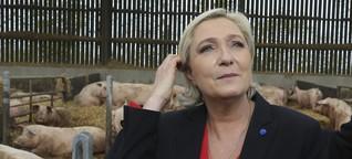 Le Pen im Matsch
